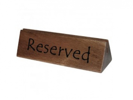 Teak Furniture Malaysia miscellaneous table reserved marker