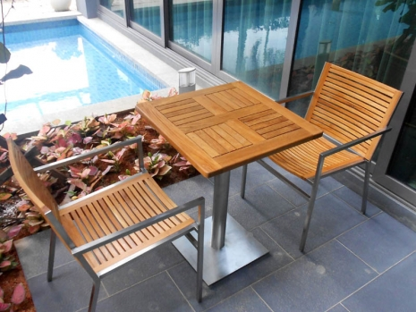 Teak Furniture Malaysia outdoor tables accura square dining table s70
