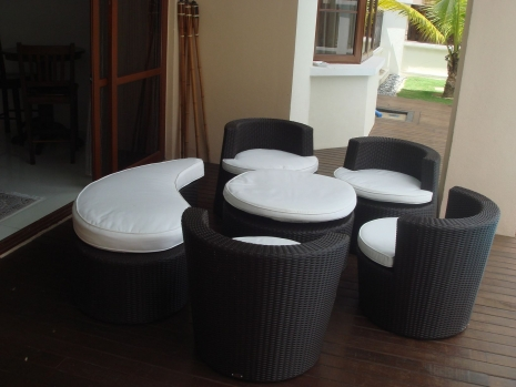Teak Furniture Malaysia terrace sets latte set