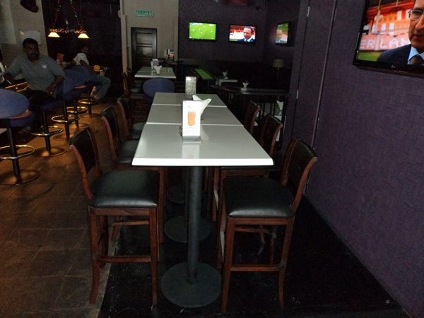 restaurant furniture grid iron sports cafe & lounge